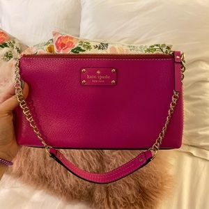 KATE SPADE HOT PINK SHOULDER BAG
